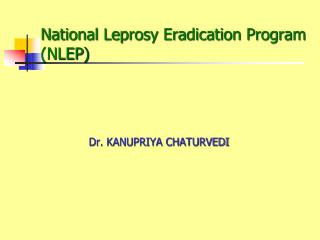 National Leprosy Eradication Program (NLEP )