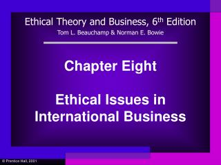 Chapter Eight Ethical Issues in International Business