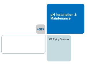 pH Installation & Maintenance