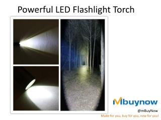 mBuyNow LED flashlight torch