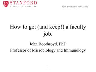 How to get (and keep!) a faculty job.