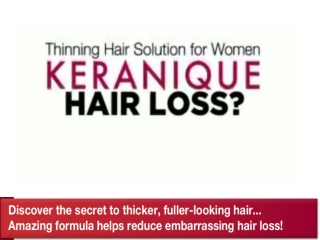 Rendezvous with Keranique - Thinning Hair Solution for Women