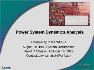Power System Dynamics Analysis
