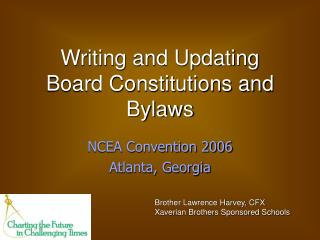 Writing and Updating Board Constitutions and Bylaws