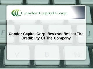 Condor Capital Corp. Reviews