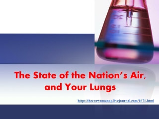 The State of the Nation's Air, and Your Lungs