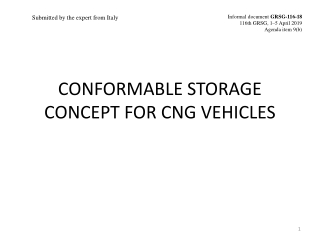 CONFORMABLE STORAGE CONCEPT FOR CNG VEHICLES