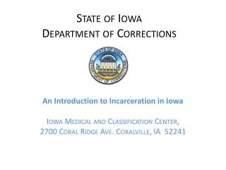 State of Iowa Department of Corrections