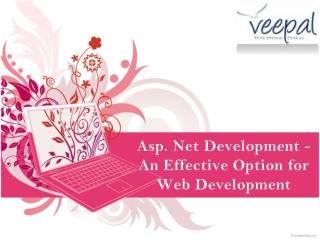 Asp DOT Net Development - An Effective Option for Web Develo