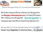 Obama Mortgage Relief For Unemployed Homeowners