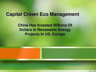 Capital Crown Eco Management - Renewable Energy
