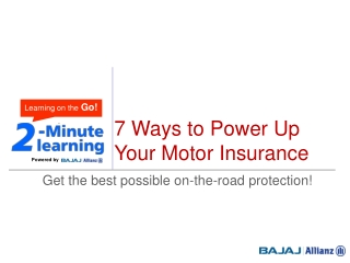 7 Things to increase the effectiveness of motor insurance