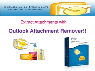 Outlook Attachment Remover Tool