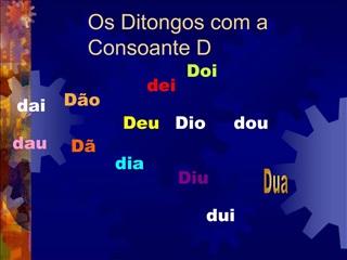 Os Ditongos com a Consoante D