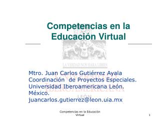 Competencias en la Educación Virtual
