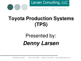 Toyota Production Systems (TPS)