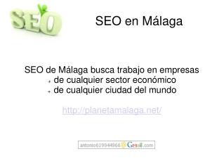 Posicionamiento SEO en Malaga