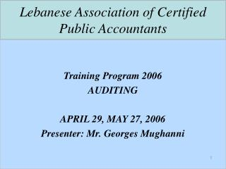 Lebanese Association of Certified Public Accountants