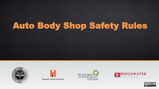 SHOP SAFETY RULES