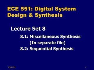 Lecture 8 Sequential Logic