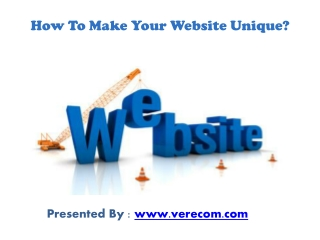 How To Make Your Website Unique ?