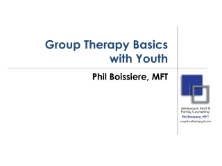 Group Therapy Basics With Youth