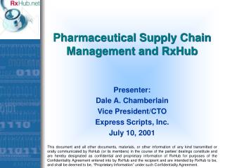 Pharmaceutical Supply Chain Management and RxHub