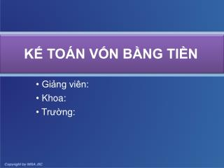 K TO N VN BNG TIN