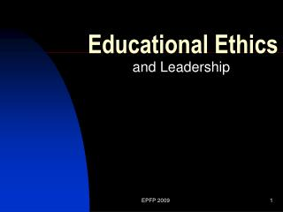 Educational Ethics