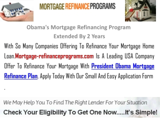 Obama's Mortgage Refinancing Program Extended By 2 Years