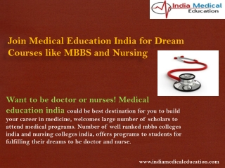 Join Medical Education India for Dream Courses like MBBS