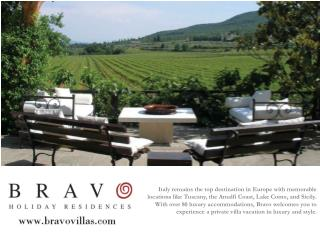 italian villa rental by bravo holiday residences