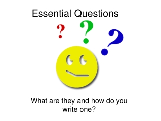 Essential Questions Jumpstart