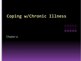 Coping w/Chronic Illness