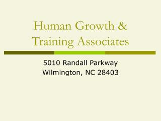 Human Growth & Training Associates