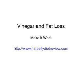 vinegar fat loss