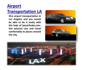 Airport Transportation LA