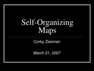 Self-Organizing Maps