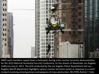 Los Angeles SWAT drill