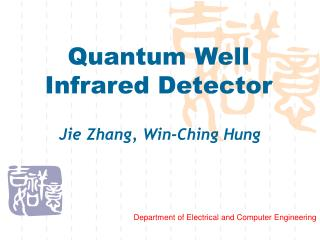 Quantum Well Infrared Detector