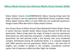 Eldeco Mystic Greens sec-Omicron %%9899606065%% Mystic Green