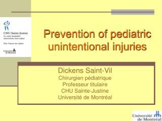 Prevention of pediatric unintentional injuries