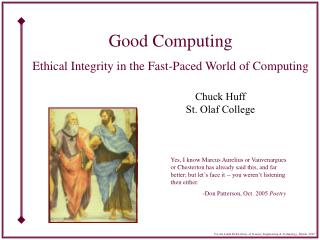 Good Computing Ethical Integrity in the Fast-Paced World of Computing