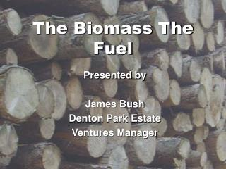 The Biomass The Fuel