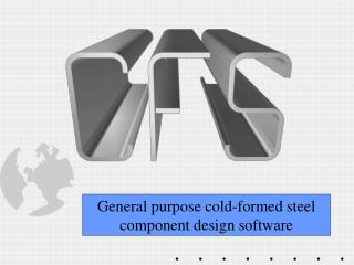 General purpose cold-formed steel component design software