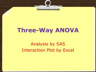 Three-Way ANOVA