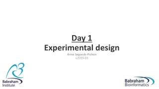 Day 1 Experimental design Anne Segonds-Pichon v2019-03