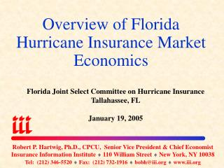 Overview of Florida Hurricane Insurance Market Economics