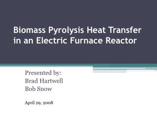 Biomass Pyrolysis Heat Transfer in an Electric Furnace Reactor