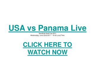 panama vs united state gold cup semi final 2011 concacaf